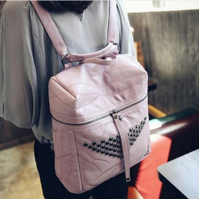 Tas Backpack Korea - Pink