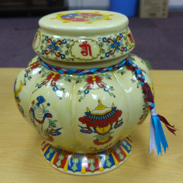 Tibetan Treasures Vase Orgyen Menla Medicine Buddha