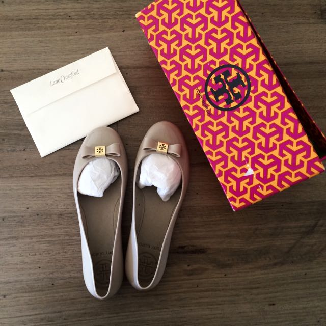 Tory Burch Authentic Jelly Ballet With Bow