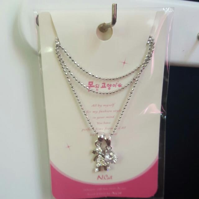 two chain necklace