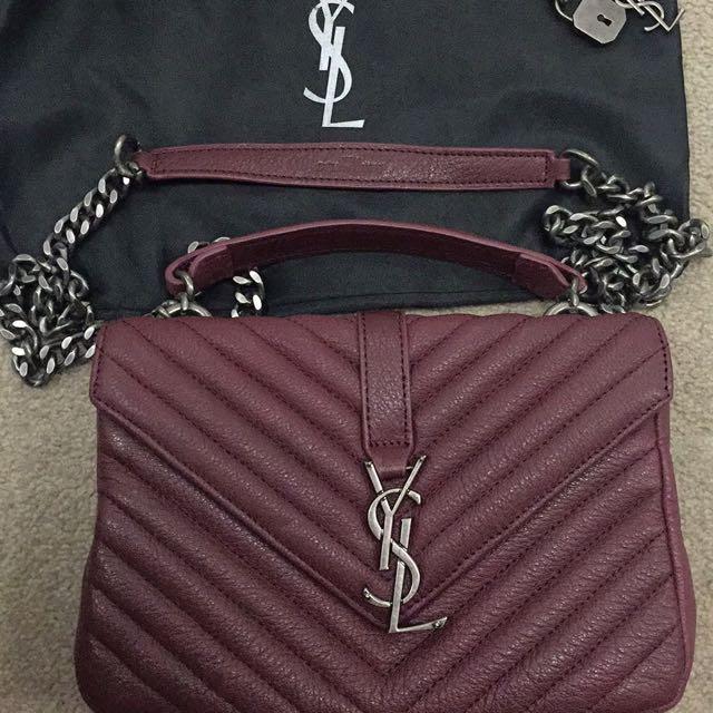 YSL Maroon bag