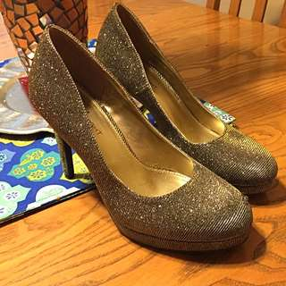 Silver Glimmered Pumps