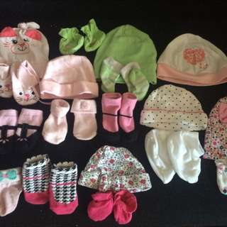 bonnets socks and mitts