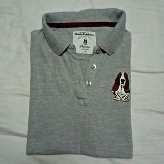 Hush Puppies Colar Shirt Grey