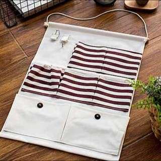 紅色條紋吊掛收納袋/吊掛分類收納袋