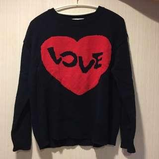Love愛心毛衣