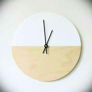 Modern Minimalist Wood Wall Clock by equilibriummind