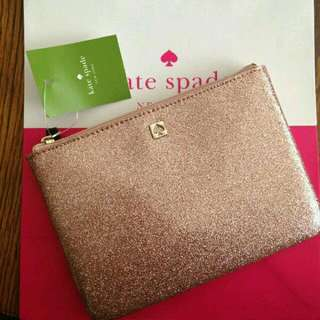 Kate Spade Rose Gold Pouch