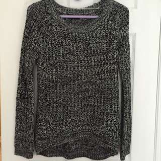 Gray And Black Sweater