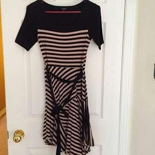 Black & Brown Stripped Dress
