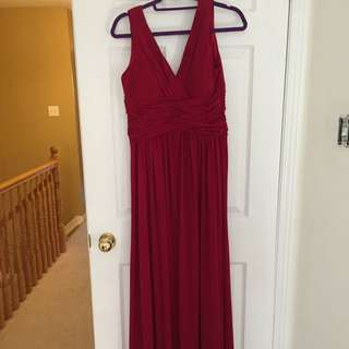 Gorgeous Red Wine Long Evening Dress