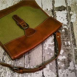 *Paa - Leather + Canvas Shoulder Bag