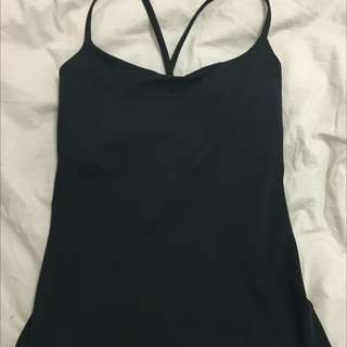 Black BNWOT Lululemon Top Size 4