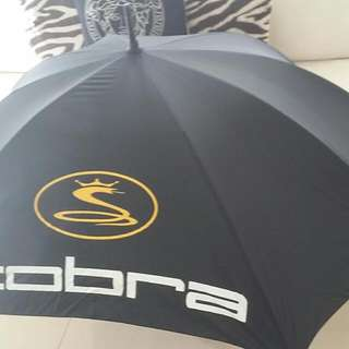 Gold Umbrella Double Oversized Oblong 125x90cm COBRA BRAND NEW