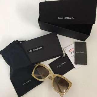 BNIB Dolce & Gabbana Gold Leaf Sunglasses DG4197 Authentic