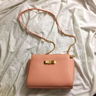 Charles & Keith Soft Pink Sling Bag