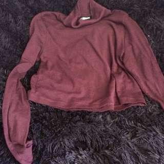 Kookai Maroon Sweater