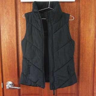Zara Black Puffer Vest