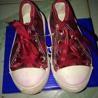 Sugar Kids Army Red Shoes