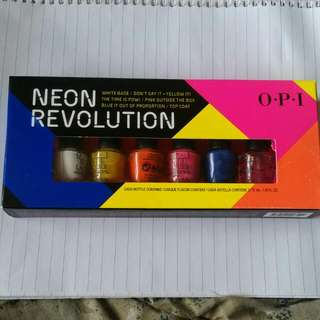 New Unopened OPI Mini 6 Pack Neon Nail Colour