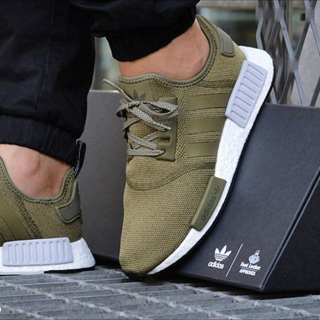 detailed look 8ae3b dc614 100% Authentic & New Adidas NMD R1, Olive Green (Sold), Sports ...