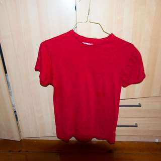 Plain Red T-shirt (Slim Fit Small UK)