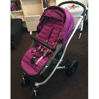 """BRITAXAffinity Stroller with """"Berry"""" colour pack"""