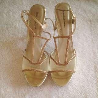 Gibi gold high heels