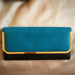 Colette Turquoise Clutch