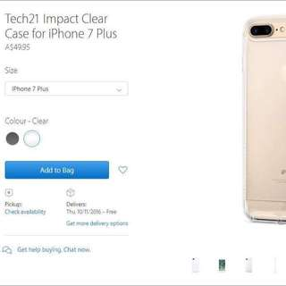Tech21 Impact Clear Case For Iphone 7 Plus