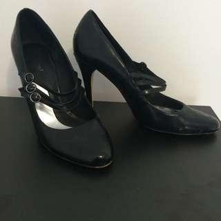 Mollini Leather Mary Jane Heel