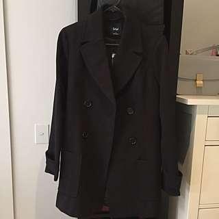 BNWT Sportsgirl Black Coat AU 8