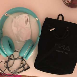 Turquoise DNA Monster Headphones