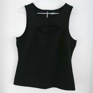 Black Singlet With Cutout