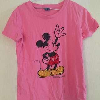 粉色米老鼠短袖T恤