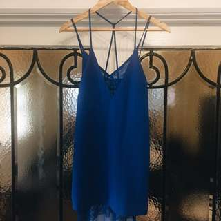 Mossman electric blue mini dress