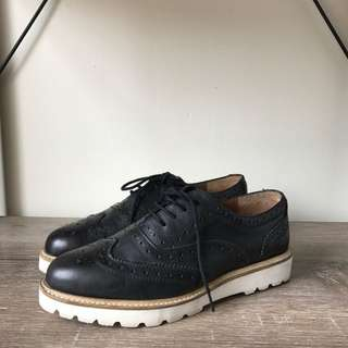 Asos Black And White Brogues