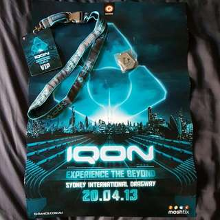 IQON lanyard, necklace and poster