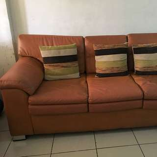 3-seater and 2-seater  leatherette sofa