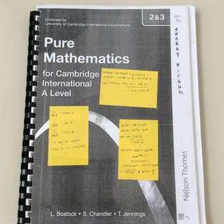 A Levels Mathematics 3