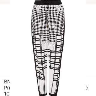 BNWT Sass & Bide Editors Letters Printed Tapered Pants 40 10