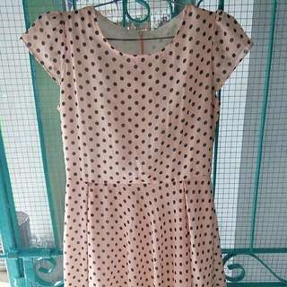Dress Pink Peach Polkadot