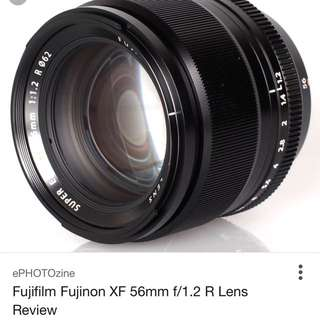Fujinon 56mm F/1.2(WANT TO BUY)