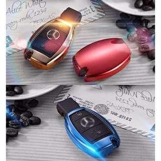 Mercedes Car Key Cover - Premium Metallic Finish Silicone Material