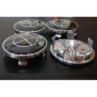 4X Wheel Center Hub Caps Fast Ship USA All Black 68mm Dia
