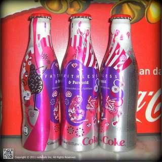 Coca-Cola Faithless & Paranoid Aluminum Bottle France 2007