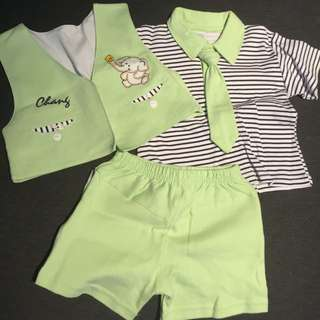 Toddler green outfit size 12-18M