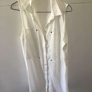 Atoms&here White Dress Size 10