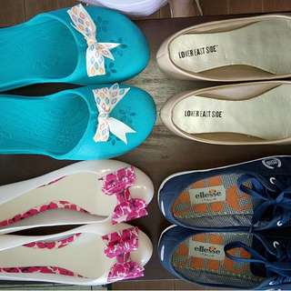 SOLD -Set of 4 shoes