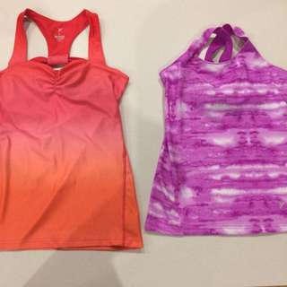 2 Gym Sporty Tops- Old Navy - Fit Size 8
